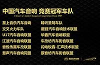 2018中国汽车后市场金匠奖 中国汽车音响竞赛冠军车队获奖名单