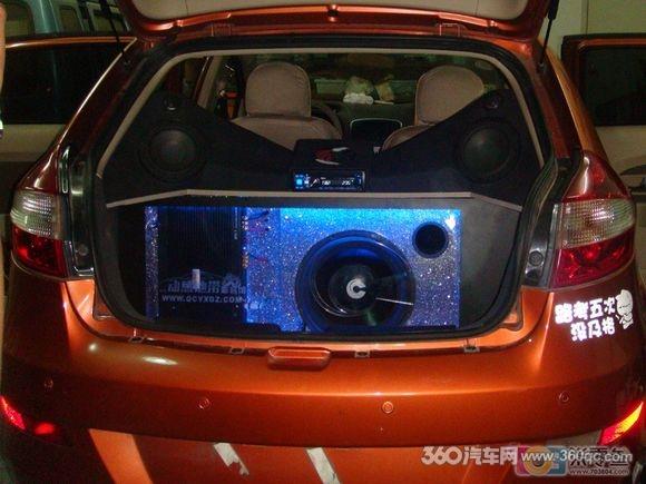 温州动感地带汽车音响改装 奇瑞风云2高清图片